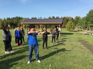 London International Academy Students doing Archery