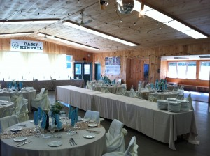 MacDonald Lodge set up to welcome wedding guests