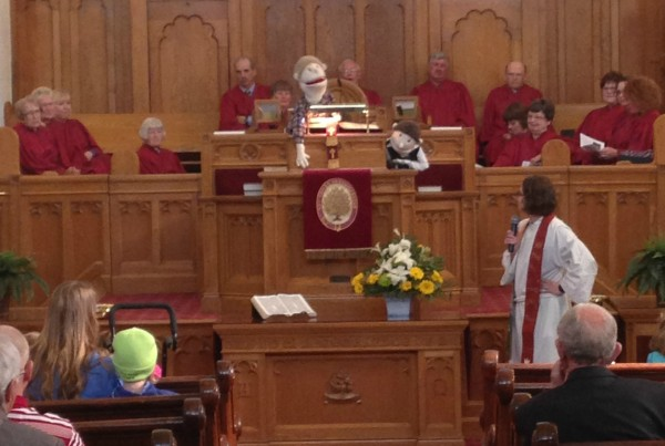 worship service, puppet,
