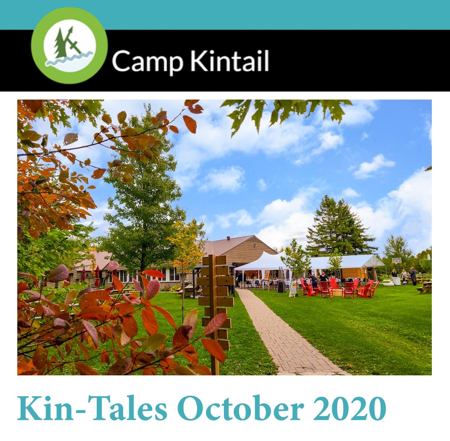 Title text: Kin-Tales October 2020. Image: MacDonald Lodge.